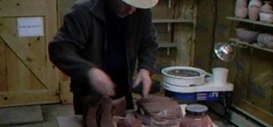 Dig clay for flower pots and make red iron oxide slips