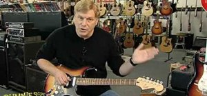Adjust an electric guitar's intonation and action