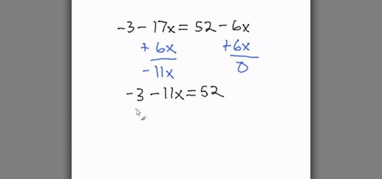 How to Solve multi-step equations with variables on both sides ...