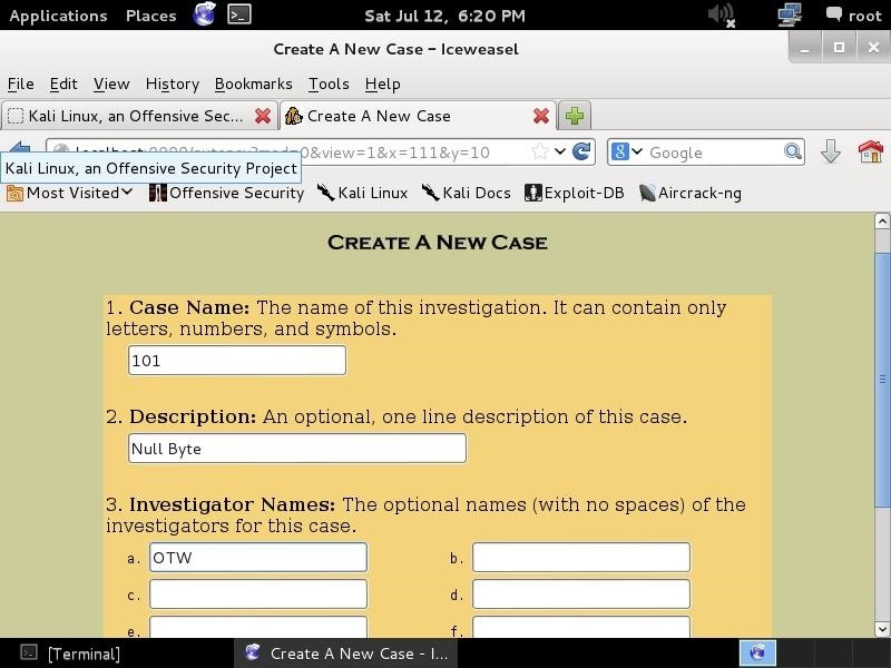 Hack Like a Pro: Digital Forensics Using Kali, Part 3 (Creating Cases in Autopsy & Sleuth Kit)