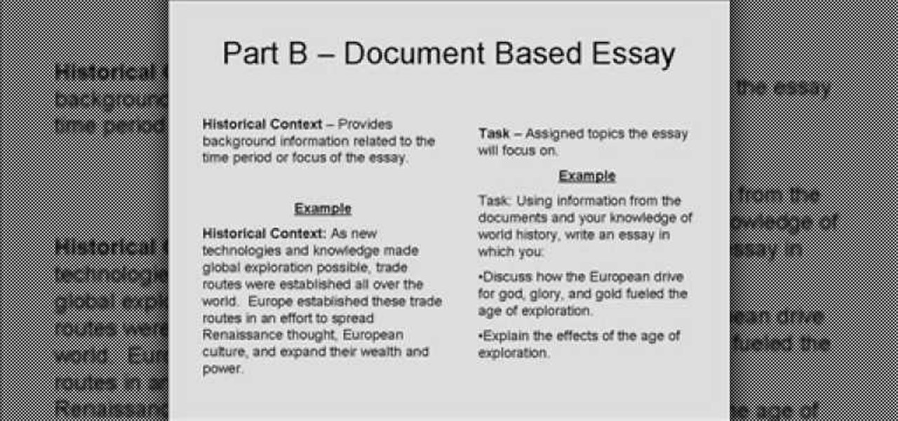 how to write a dbq or document based question essay teaching  how to write a dbq or document based question essay teaching wonderhowto