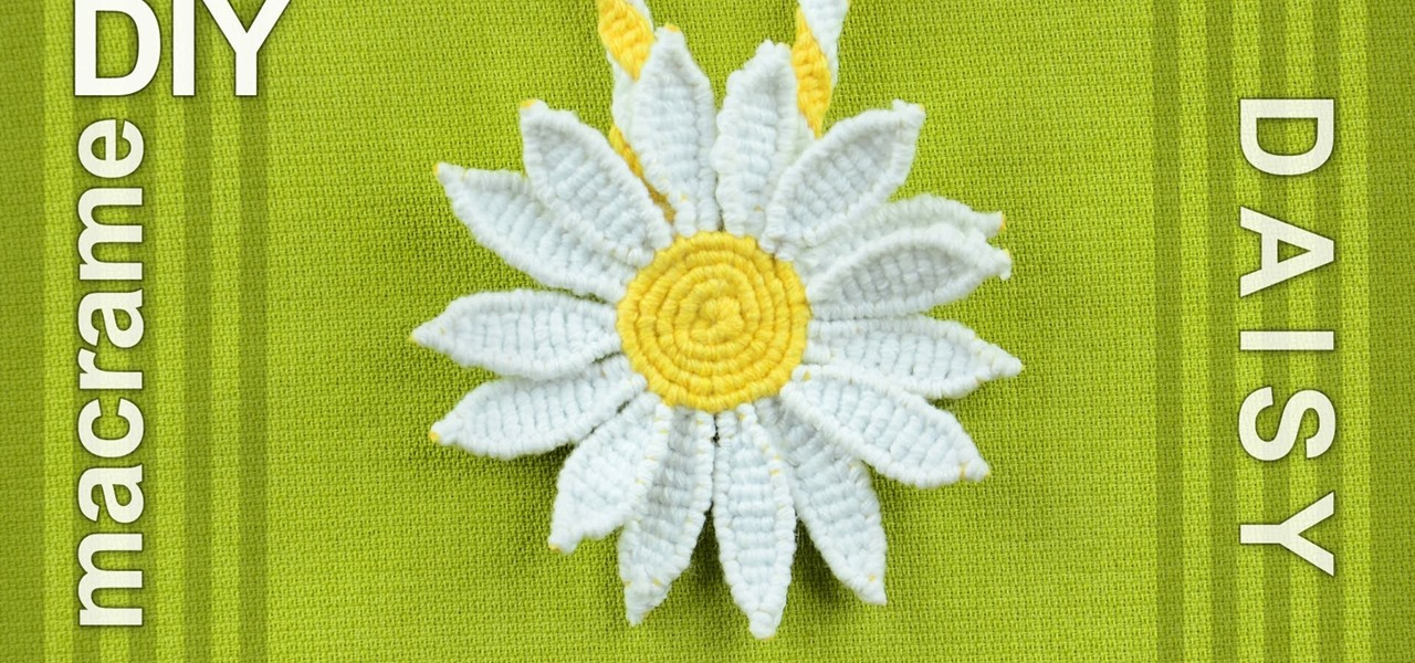 Make a Macrame Daisy