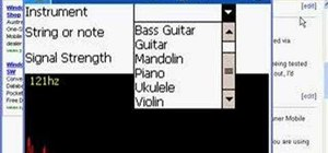 Tune your ukulele or guitar using Windows Mobile