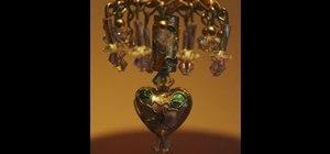 Make a miniature dollhouse lamp