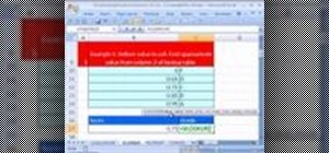 Use Microsoft Excel's built-in VLOOKUP function