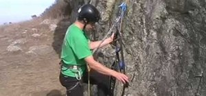 Big wall climb with a basic jumaring technique