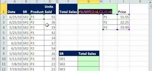 Calculate sales using a compact array formula in Excel
