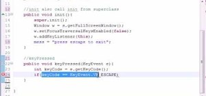 Create key events for Java game development