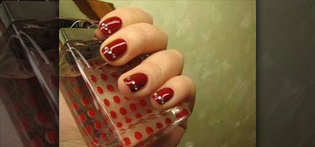 How To Apply Rhinestones Your Nails Manicure WonderHowTo