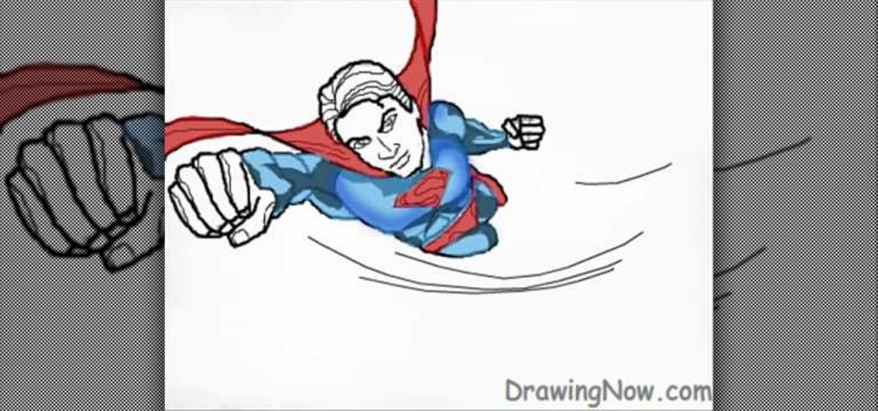 cute superman flying drawing - photo #17