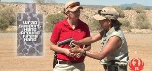 Stay safe when gripping a handgun as a beginning shooter