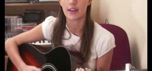 "Play ""In My Place"" by Ana Free on acoustic guitar"