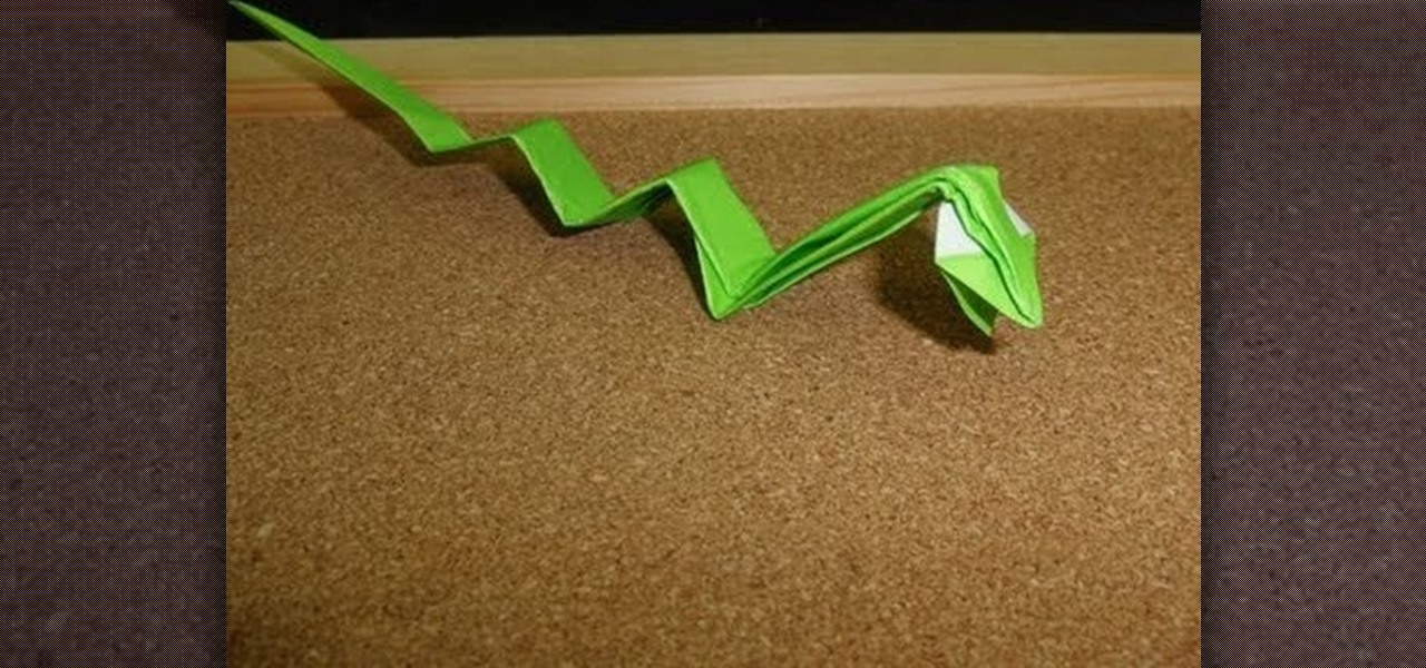 Origami Snake Dragon Instructions