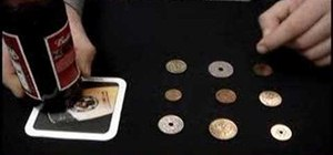 Perform the nine coins bar trick