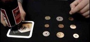 Perform the nine coins bar trick