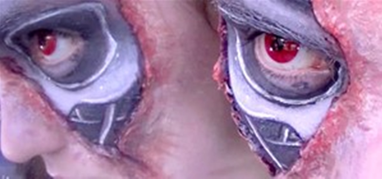 Howto peel back skin to reveal your inner terminator this for Terminator face tattoo
