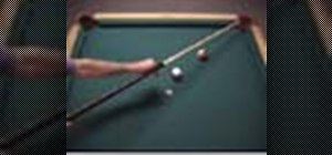 Make a straight-on draw shot in pool
