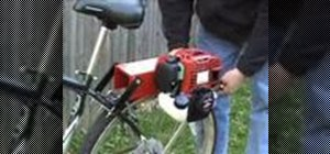 Build a cool friction drive motorized bicycle