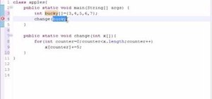Pass arrays into methods for Java programming