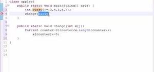 Pass arrays into methods for Java programming