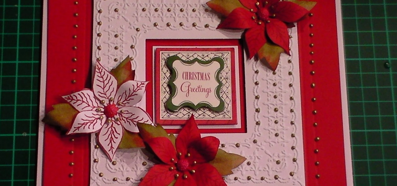 Make a Floral Christmas Card