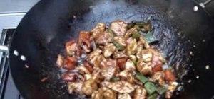 Make black pepper chicken