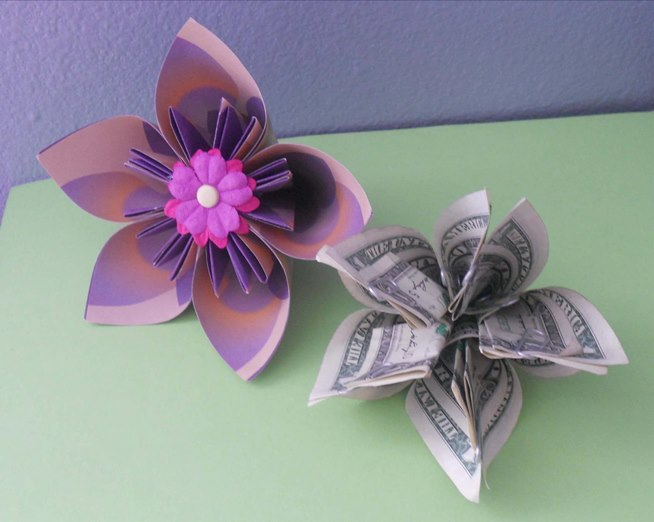 How To Make Origami Roses Out Of Dollar Bills