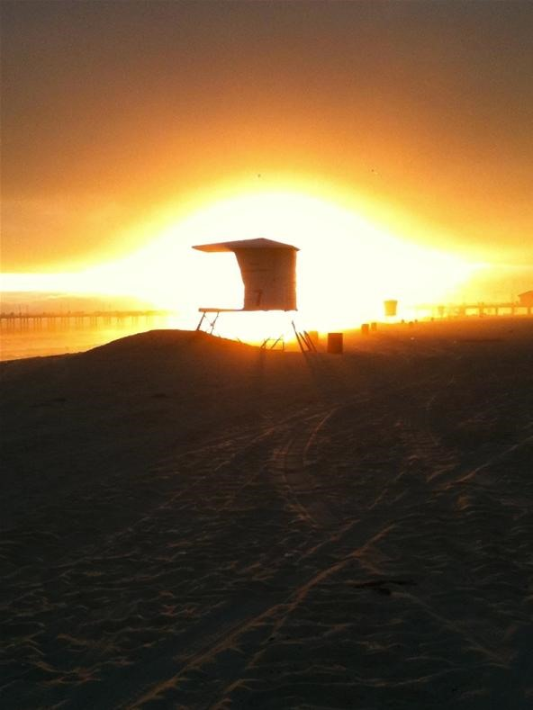 Camera Phone Photo Challenge: The Lifeguard's Sunset