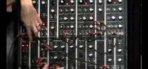 Build a simple patch with an analog synthesizer