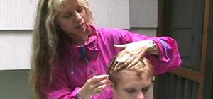 Cut the hair of a man or boy, step by step