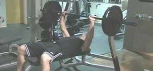 Workout your chest with barbell bench presses