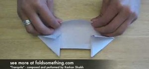 Fold an origami army tank with one sheet of paper