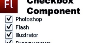 Add a Checkbox component to your website in Flash