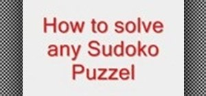 Solve any sudoku puzzle