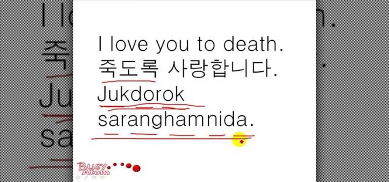 "How to Say ""I love you"" in Korean « Korean Language ..."