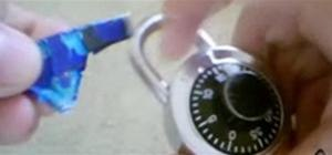 Hack a padlock with a soda can shim