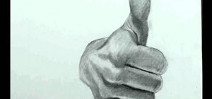 Draw a hand giving a thumbs up