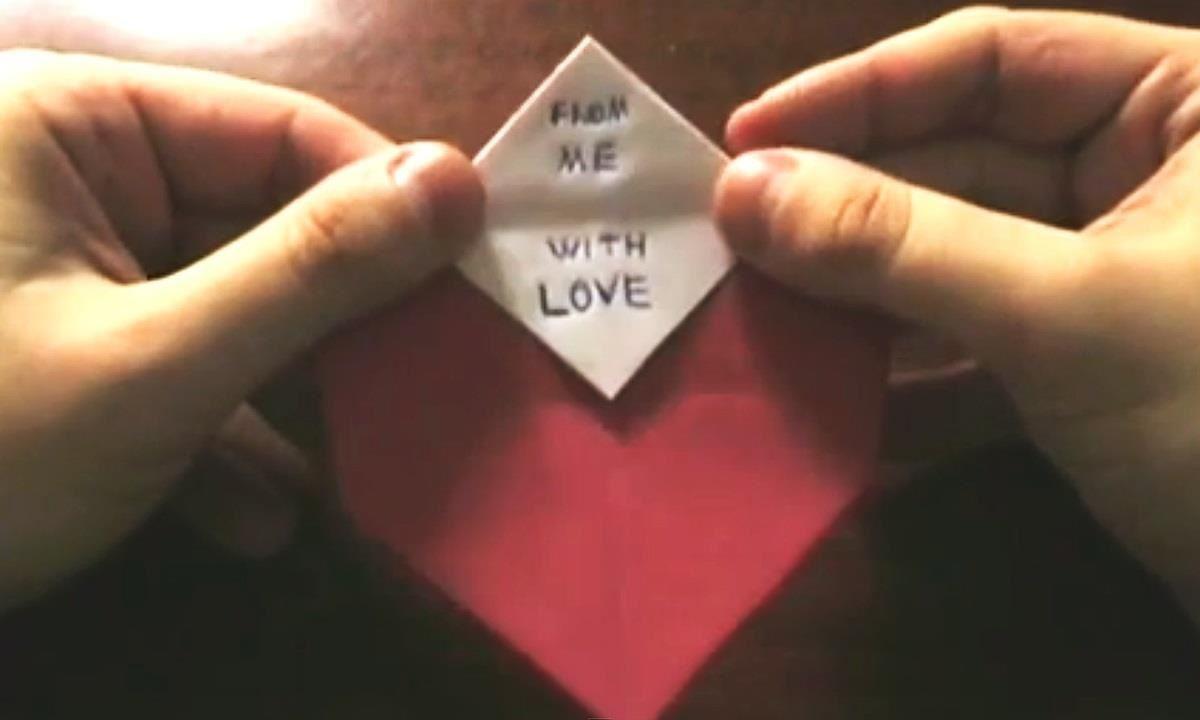 Easy Origami Heart Money