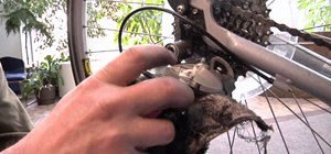 Lubricate bicycle chains and gears & adjust its brakes