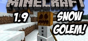 Make a snow golem in the Minecraft 1.9 Pre-Release