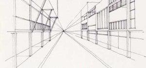 Sketch a busy street
