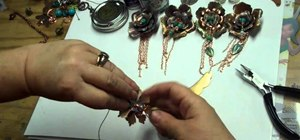 Color brass flower findings with Lumiere paints and GIlder's Paste