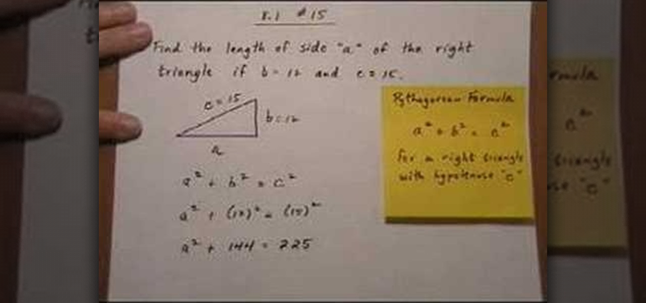 How to use the pythagorean formula to find a missing side math how to use the pythagorean formula to find a missing side math wonderhowto ccuart Image collections