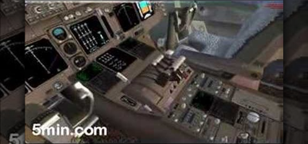How to Take of in a FSX PMDG 747 Microsoft flight simulator
