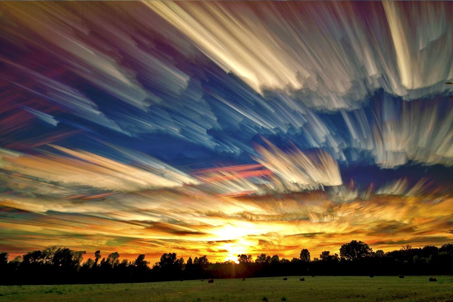 Turn Time-Lapsed Clouds into a Brushstroke Painting with This Photo Stacking Technique