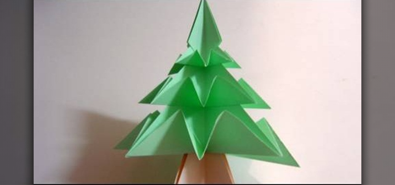 How to fold a simple origami christmas tree christmas ideas for How to make folded christmas cards