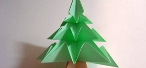 Fold a simple origami Christmas tree