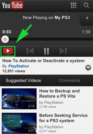 How to Use Your iPhone to Play and Control YouTube Videos on Your PlayStation 3