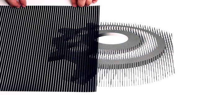 Papercraft a how to community for creating things out of for Animated optical illusions template