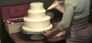 Stack a simple wedding cake